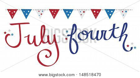 Fourth of July Red White and Blue