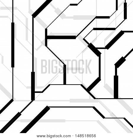 Abstract background with geometric elements. Vector backdrop