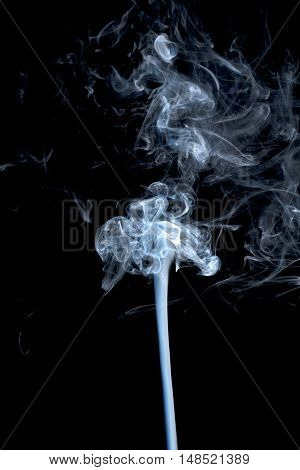 Abstract gray smoke on black background mystery transparent