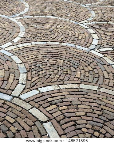 Beautiful paving stone pavement Netherlands Europe granite