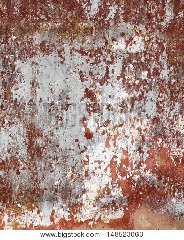 Cracked grunge wall may used as background