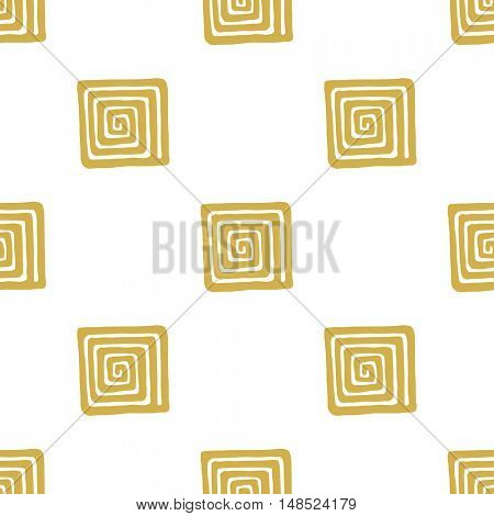 meander square seamless pattern