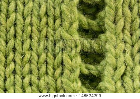 Large mating large braids and loops green color