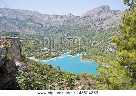Views of Reservoir of El Castell de Guadalest Alicante Spain