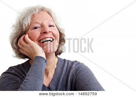Happy Senior Woman Laughing