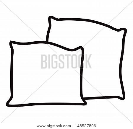 Pillow icon. Cushion icon isolated on a white background - vector illustration.