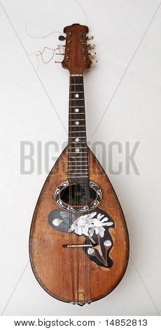 Old Mandolin With Pearl Incrustation