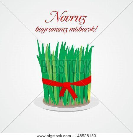 Nowruz greeting. Novruz. Iranian new year vector illustration.