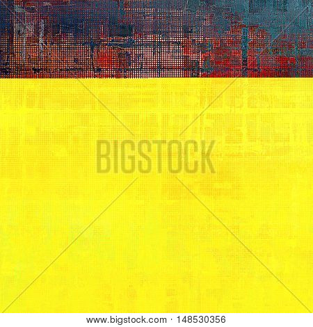 Grunge background or texture with vintage frame design and different color patterns: yellow (beige); brown; gray; blue; red (orange); pink