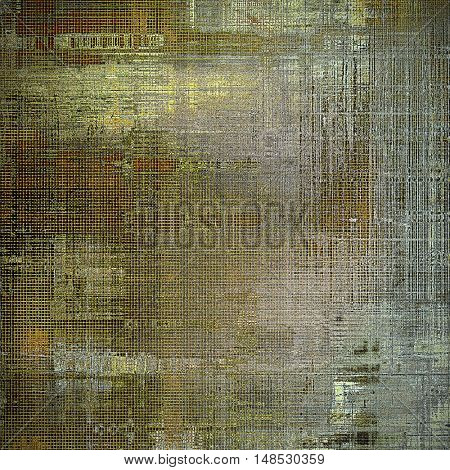 Old background with grunge decorative elements. Retro composition for your design. With different color patterns: yellow (beige); brown; gray