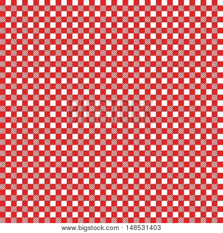 Seamless checkered. Seamless coarse red checkered plaid fabric pattern texture.