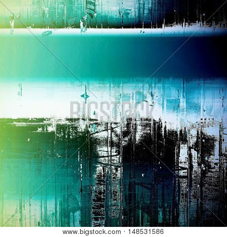 Retro colorful background or creative old style texture with different color patterns: green; blue; black; cyan; white