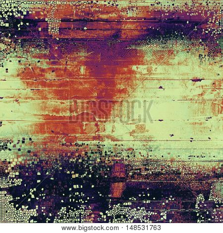Scratched vintage colorful background, designed grunge texture. With different color patterns: yellow (beige); gray; red (orange); purple (violet); cyan; pink