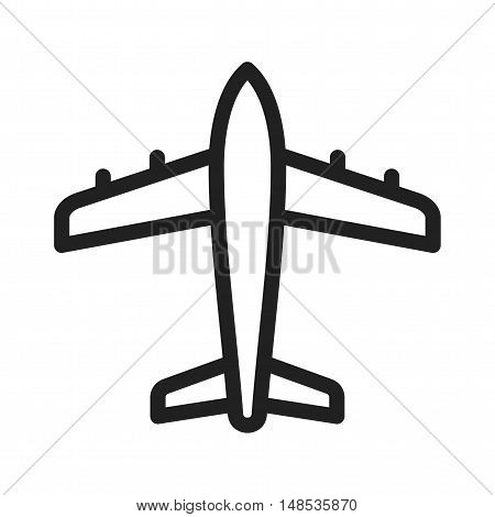 Aeroplane, plane, flight icon vector image. Can also be used for travel. Suitable for mobile apps, web apps and print media.