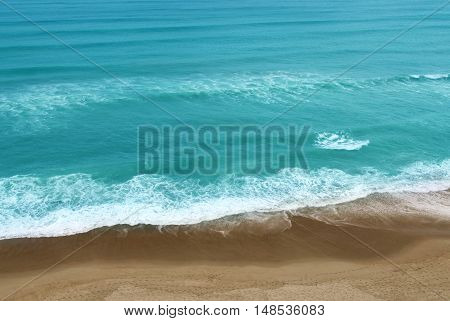 Aerial view of tropical ocean travel or summer concept