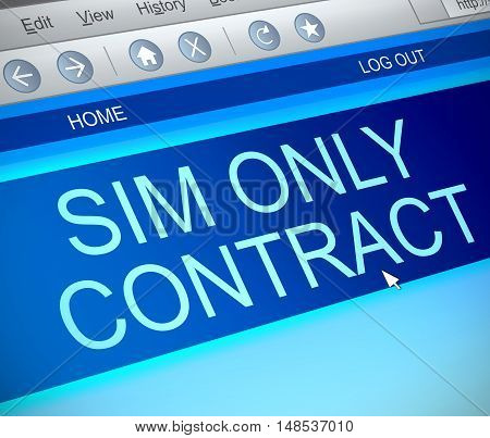 Sim Only Contract Concept.