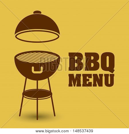 bbq and grill menu icon. Steak house food and restaurant theme. Vector illustration