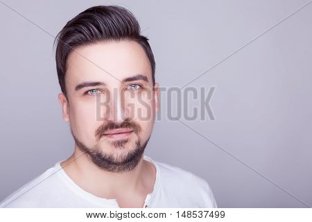 Young Men With Style On Grey Background