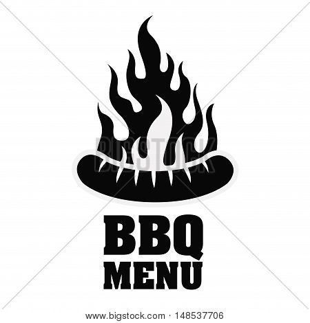 Sausage bbq and grill menu icon. Steak house food and restaurant theme. Isolated design. Vector illustration