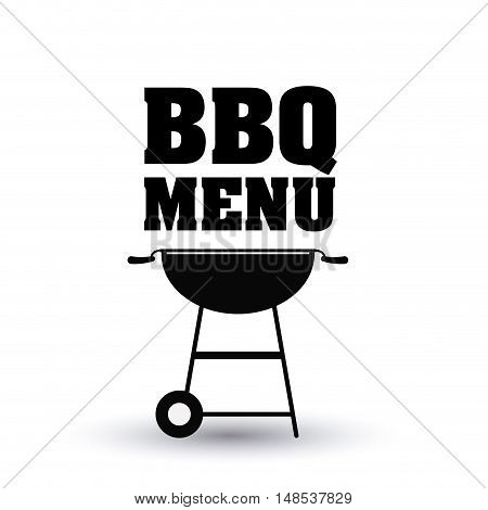bbq and grill menu icon. Steak house food and restaurant theme. Isolated design. Vector illustration