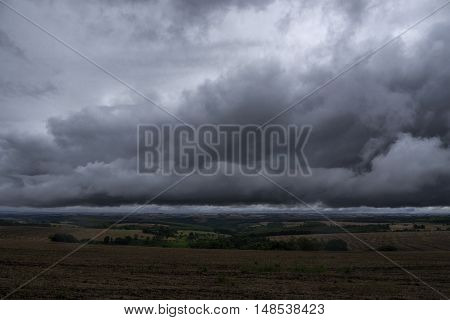Storm Clouds sky dark overcast thunderstorm scene