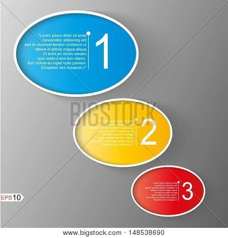 Abstract infographic element set. Creative presentation slide template. Marketing brochure design. Scroll chart web model. Financial figure step points list arrangement. Website data icon. Vector art. primary colors