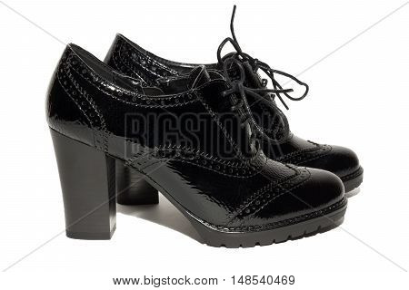 The picture shows the female shoes on a white background