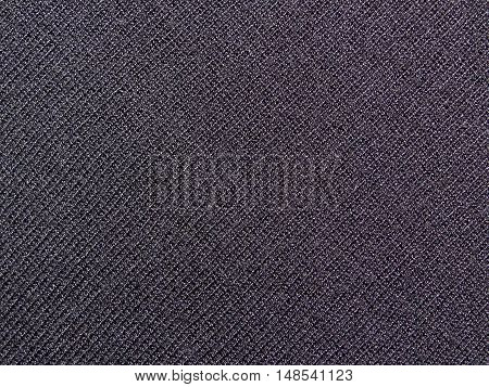 the texture of the black knit fabric, close up