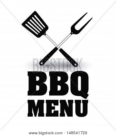 turner fork bbq and grill menu icon. Steak house food and restaurant theme. Isolated design. Vector illustration