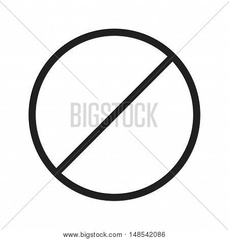 No, forbidden, sign icon vector image. Can also be used for warning caution. Suitable for use on web apps, mobile apps and print media.