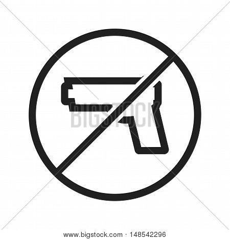 No, pistol, guns icon vector image. Can also be used for warning caution. Suitable for use on web apps, mobile apps and print media.
