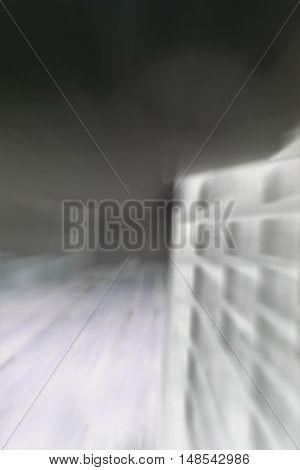 Negative defocused apartment building in vertical 3:2 format.
