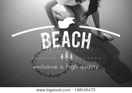 Summer Relaxation Travel Leisure Concept