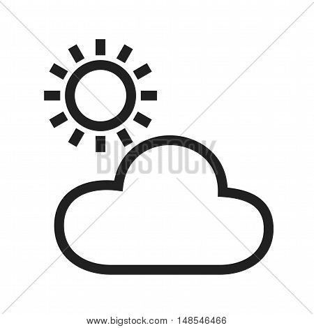 Cloudy, weather, sky icon vector image. Can also be used for spring. Suitable for use on mobile apps, web apps and print media.