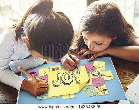 Children Playful Happiness Enjoyment Childhood Concept