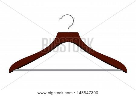 Isolated realistic vector hanger on white background.