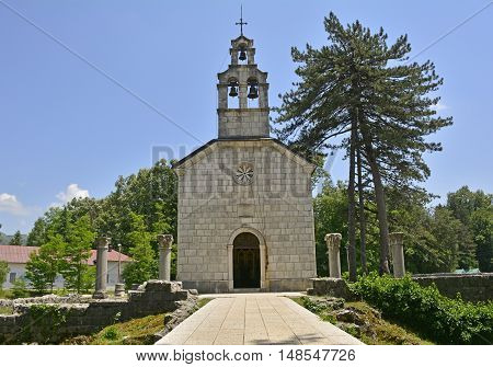 The Court Church in Cetinje the old royal capital of Montenegro built in 1886 on the site of the remains of the monestary of Crnojevici.
