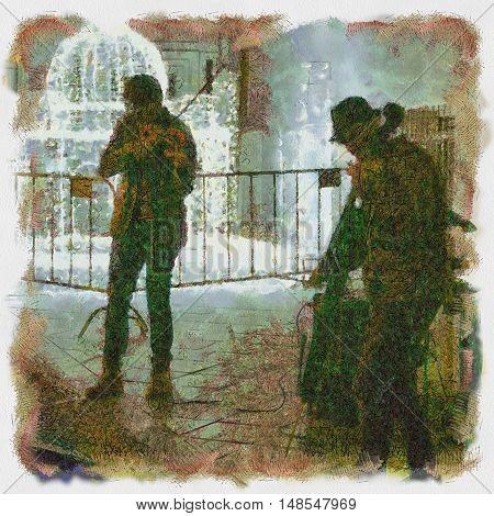 Street Musicians. Illustration