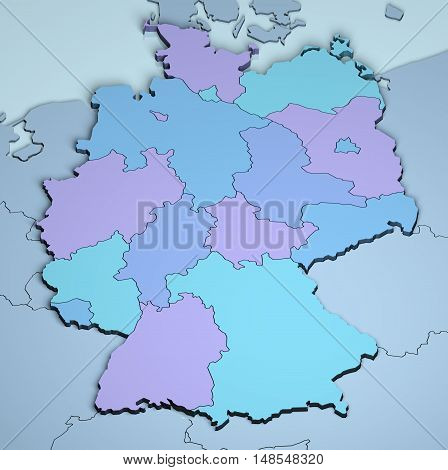 Germany 3D Europe digital cartography dimensional map