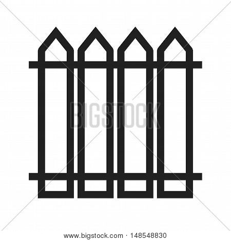 Fence, house, boundary icon vector image. Can also be used for spring. Suitable for mobile apps, web apps and print media.