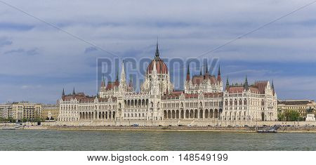 Parliament Building in Budapest landmark nature background