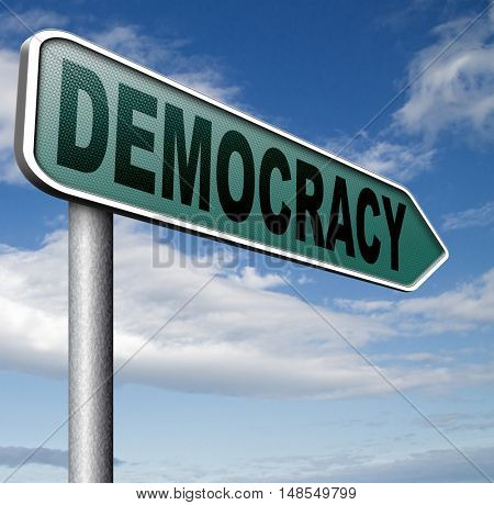 democracy and political freedom power to the people after a new revolution for free elections 3D, illustration