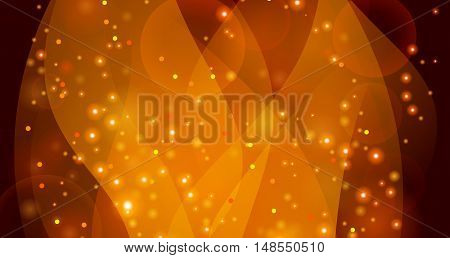 Vector abstract background with glowing smooth lines. Transparent shape that imitates the flame.