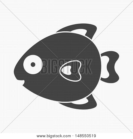 Fish black icon. Illustration for web and mobile.