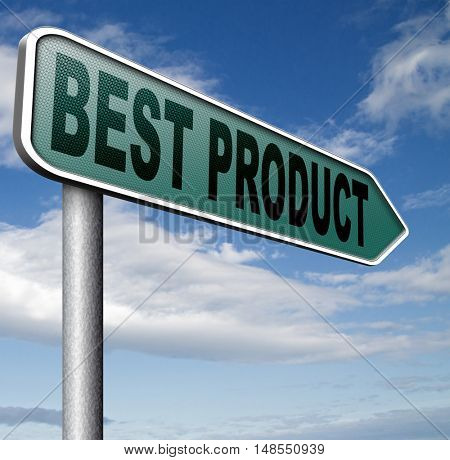 best product sign top quality guaranteed premium choice 3D, illustration