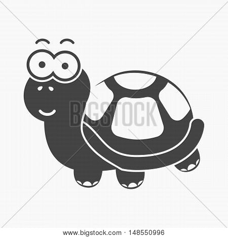 Turtle black icon. Illustration for web and mobile.