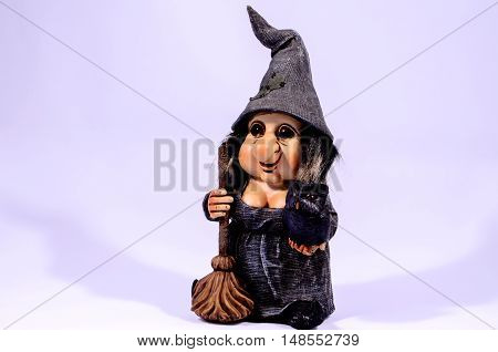 Clay Handmade Statue Of A Witch