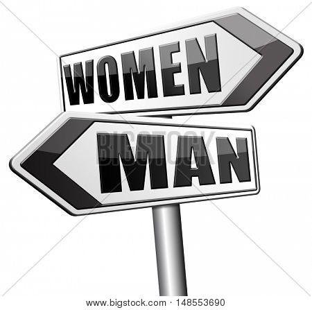 men women gender differences  3D, illustration