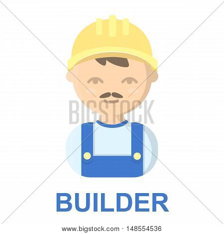 Builder cartoon icon. Illustration for web and mobile.