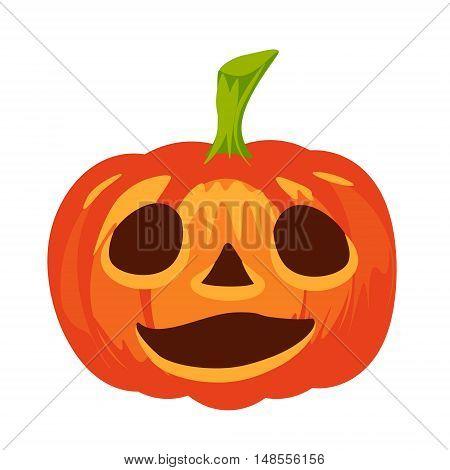 Vector isolated pumpkin. Halloween design emotion laughingsmiling sad wonder marvel smile. Jack lantern for website flier invitation card sticker